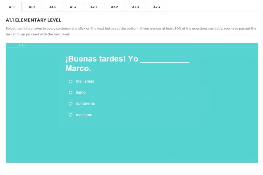 Online Language Test